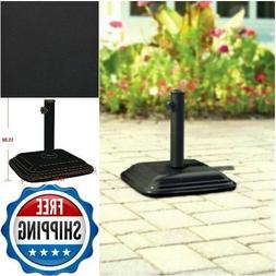 MAINSTAYS CONCRETE UMBRELLA BASE, BLACK, MS12-092-018-18! BU