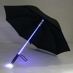 Cool Umbrella LED Features Light Transparent With Flashlight