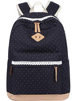 Mygreen Cute Lightweight Canvas Bookbags School Backpacks fo