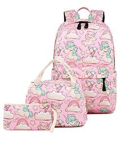 Abshoo Cute Lightweight Kids School Bookbags Unicorn Girls B