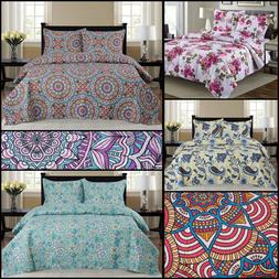 Quilted Bedspread Set 3 Piece - Cynthia By Glory Home Design