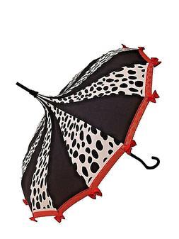 Dalmatian Lover Fairy Tale Themed Umbrella / Parasol red,bla