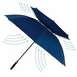 DOUBLE CANOPY VENTED WINDPROOF GOLF UMBRELLA 62 INCH AUTOMAT