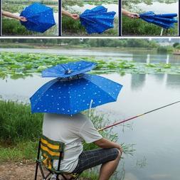 Double Layer Fishing Beach Golf Umbrella Hat Raining Or Sun