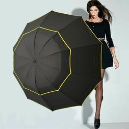 Double Layer Golf Umbrella Folding Anti-UV Rain Windproof Fo