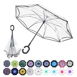 WASING Double Layer Inverted Umbrella Cars Reverse Umbrella,