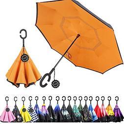 Monstleo Double Layer Inverted Umbrella Cars Reverse Umbrell