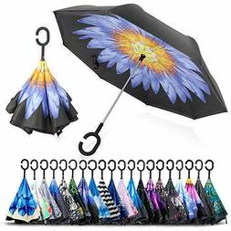 Double Layer Inverted Umbrella Cars Reverse Umbrella, UV Pro