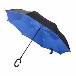 Bagail Double Layer Inverted Umbrella Reverse Folding Windpr