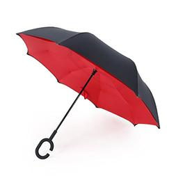 Double Layer Inverted Umbrella Windproof UV Protection Rever
