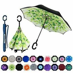 Double Layer Inverted Umbrella With C-Shaped Handle For Car