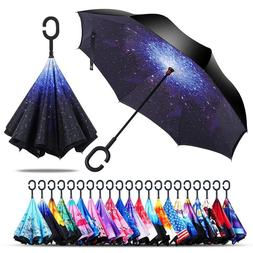 Double Layer Inverted Umbrella Windproof with UV Protection