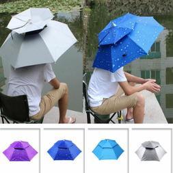 Double Layer Umbrella Hat Sunny Rainy Anti-UV For Outdoor Fi