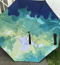 Bagail Double Layer Umbrella Windproof Reverse Folding NEW W