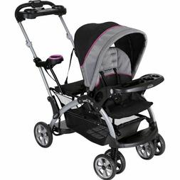 Double Stroller Infant Toddler Sit Stand Seat Chair Harness