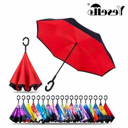 drop shipping windproof reverse folding double layer