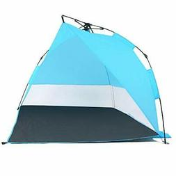 Odoland Easy Pop Up Beach Tent Sun Shelter Umbrella Family B