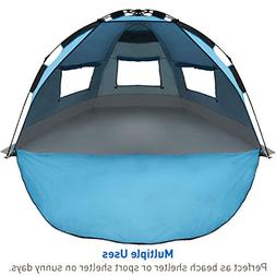 EasyGO Products Shelter - Instant Beach Umbrella Tent Sun Sp