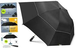EEZ-Y 58 Inch Folding Golf Umbrella with Large Windproof Dou