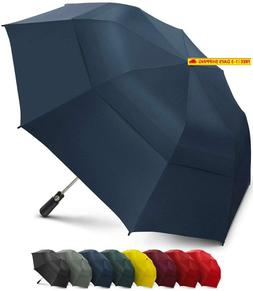 Eez-Y 58 Inch Portable Golf Umbrella Large Windproof Double