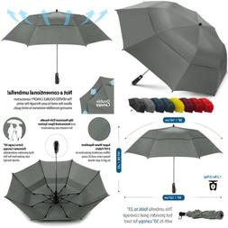 "EEZ Y 58"" Portable Golf Umbrella LARGE Windproof Double Cano"