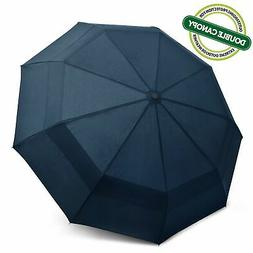 EEZ-Y Compact Travel Umbrella w/Windproof Double Canopy Cons