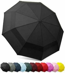 EEZ-Y Compact Travel Umbrella w/Windproof Double Canopy