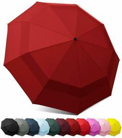 Eez-Y Compact Travel Umbrella With Windproof Double Canopy C