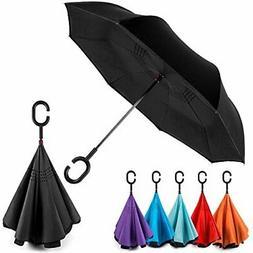 EEZ-Y Reverse Inverted Windproof Umbrella - Upside Down Umbr