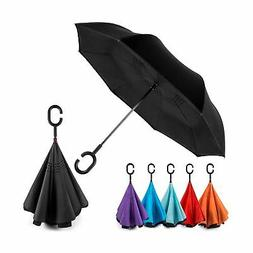 EEZ-Y Reverse Inverted Windproof Umbrella - Upside Down Umbr