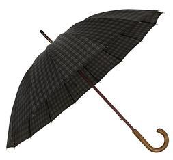 Executive Walking Umbrella for Men - Wood Shaft Wooden Curve