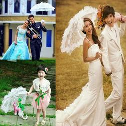 Fashion Lace Parasol Flower Girl Bridal Sun Umbrella Wedding