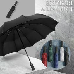 Fashion Large Umbrella Men/Women Three Folding Anti-UV Windp