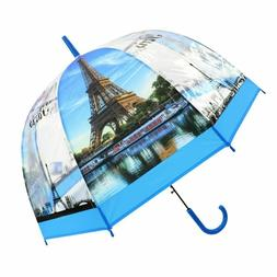 Fashion Long Transparent Umbrella for Women with Picture Eif