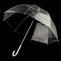 Fashion Transparent Umbrella Female Male Rain Long Handle St