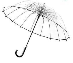 Fashion Transparent Umbrellas Big Long-handle Straight Stick