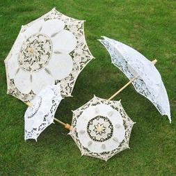Fashion Women Parasol Decor Bridal Lace Umbrella For Wedding