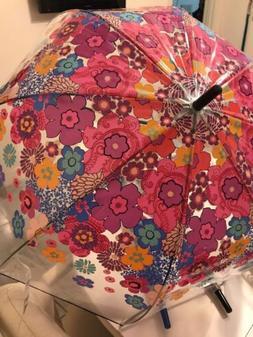 Vera Bradley Fiesta Floral Bubble Umbrella Auto Open NWT