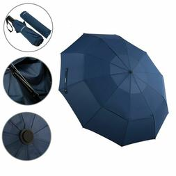 Foldable Automatic Umbrella Double Canopy Compact Strong Win