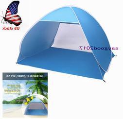 Foldable Beach Tent 2-3 Person Sun Shelter lodge Camping Sun