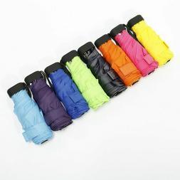 Folded Pocket Mini Umbrella Small Super Light Five-Fold Wind