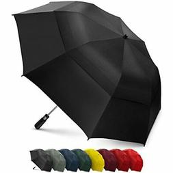 Folding Golf Umbrella 58 inch Large Windproof Double Canopy