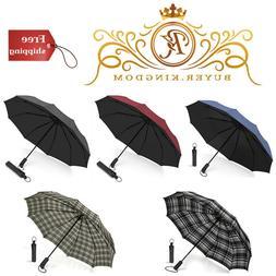 Folding Travel Umbrella Windproof Compact Umbrella Auto Open