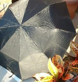 Folding Umbrella Black Oversize Full 42in Arc