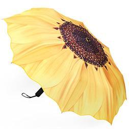 Plemo Folding Umbrella With Anti-Slip Rubberized Grip, Windp