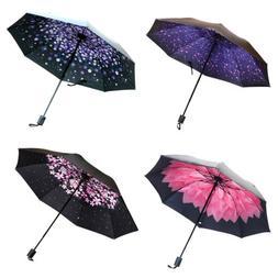 Folding Umbrella New Fashion Windproof Anti-sun Men And Wome