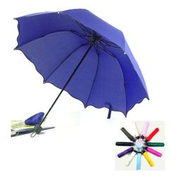 Folding Windproof Anti UV Clear/Rain Compact Parasol Lacewor