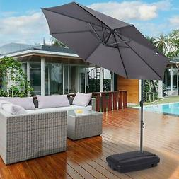 Free Standing 177 lbs Weighted Cantilever Offset Umbrella Ba