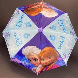 DISNEY FROZEN ANNA & ELSA Molded Handle UMBRELLA Rain Snow S