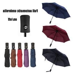 Full Automatic Umbrella Anti-UV Sun/Rain Windproof 3 Folding